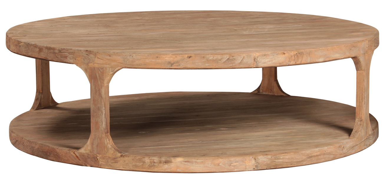 Popular Round Reclaimed Wood Coffee Table - Taramundi Furniture & Home Decor LY29