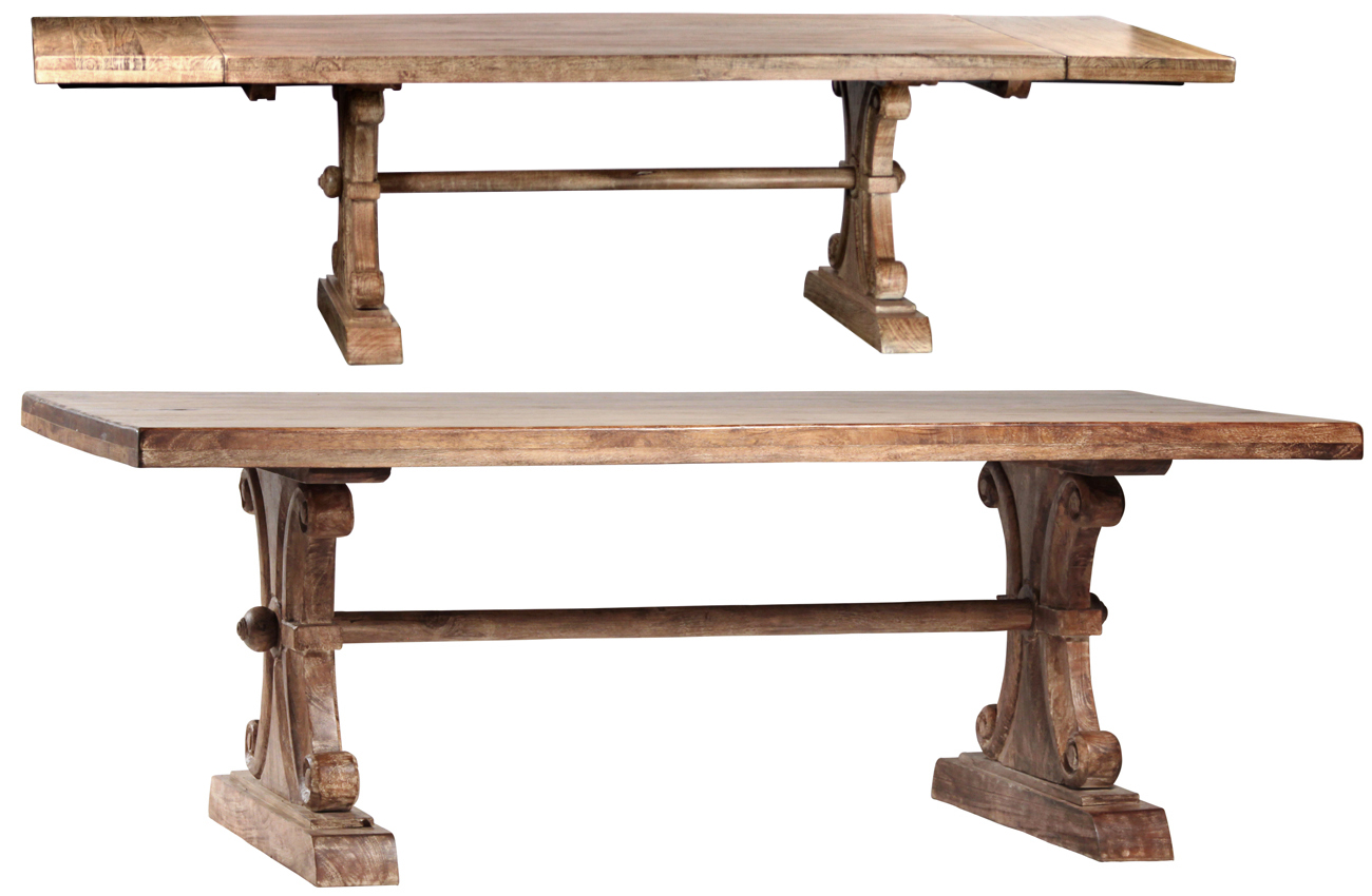Rustic Dining Table With extensions